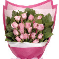 A bouquet of 24 lovely light Pink Roses