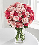 24 Mix Blooms Roses in Bouquet w/ Vase